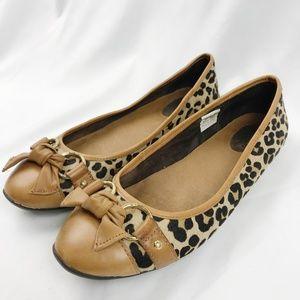 Sperry | Leopard Calf Hair Bow Ballet Flats